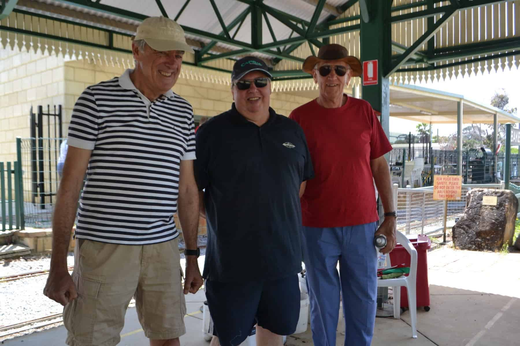 """Stationmaster Russell W and covid """"cleaners"""" Bill B and Rob G"""