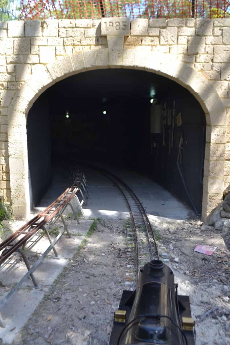 Tom W takes an unusual pic of the new tunnel portal as he approaches on his Black 5.
